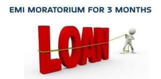 emi moratorium for 3 months