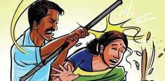 husband beaten wife