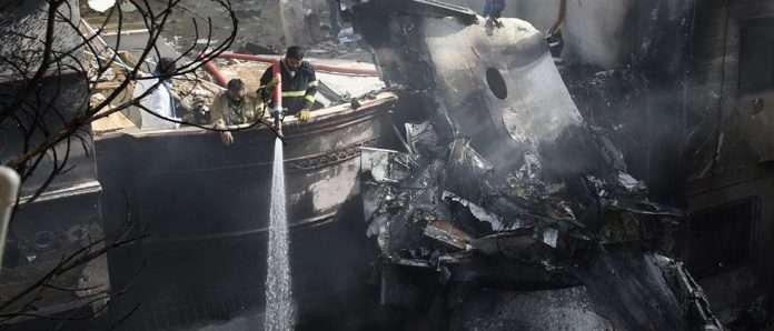 pakistan karachi plane crash currency found three crore