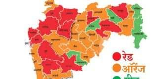 Red Orange green zone