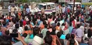 one thousand five hundred of labor on road at chandrapur demand for travel permission