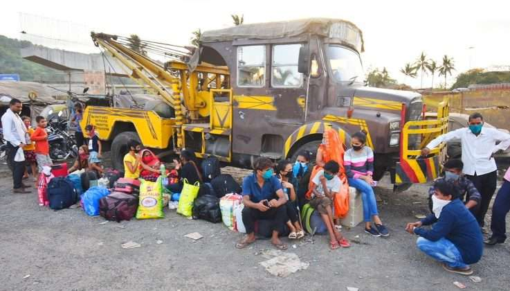 migrant laborers admitted to bhayandar