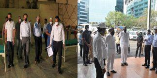 minister uddhav thackeray and sharad pawar visit mumbai corona center