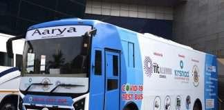 covid 19 test bus