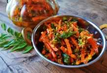 recipe of spicy carrot pickle