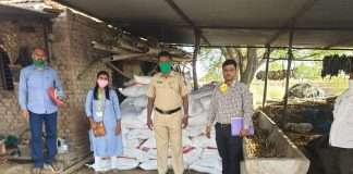 Twelve lakh goods seized in raid by Agriculture Department squad