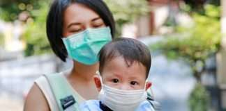 Masks are too dangerous for children under two, Japanese experts warn