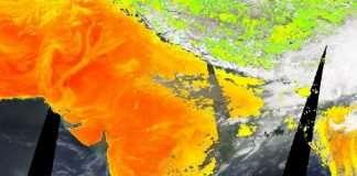 nasa worldview of surface temparaure of India