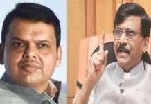 sanjay raut and devendra fadanvis