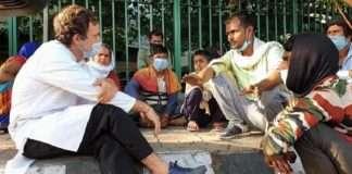 Rahul Gandhi Hits The Streets, Talks To Stranded Migrants In Delhi