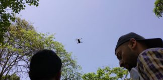 during the lockdown drone sight in the Yeoor forest