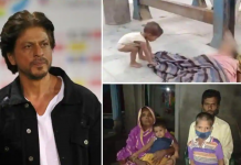 bollywood shahrukh khan helps the kid who tried to wake up his dead mother at a station from a viral video