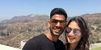 Cricketer Manoj Tiwari and wife