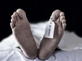 corona patient dead body