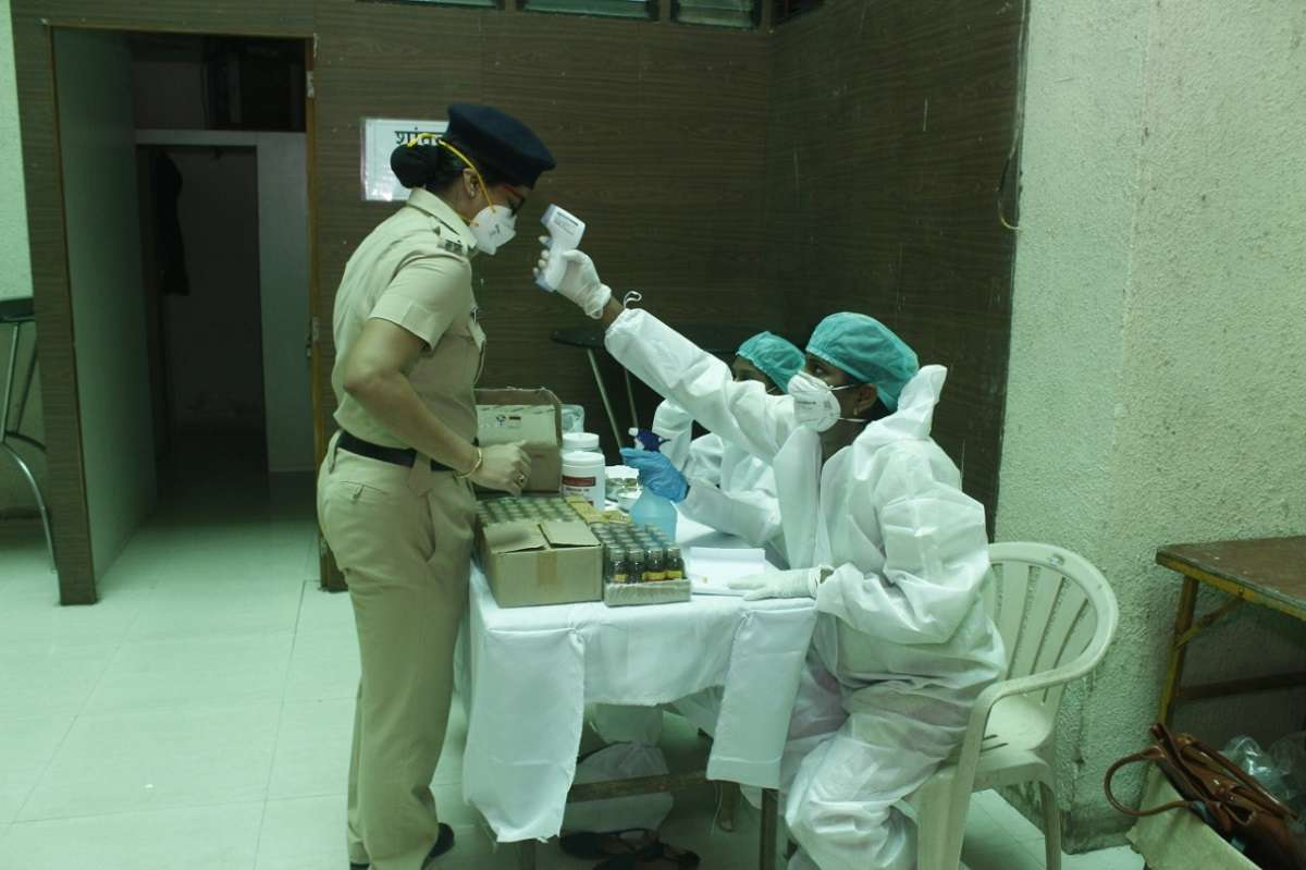 Health checkup is done for Covid worriers in police dept