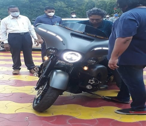 The Chief Justice sharad bobde enjoyed the super bike