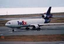 fedex plane mumbai runway