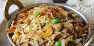 mushroom pulao recipe