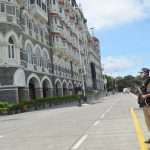 mumbai police security tightened outside taj hotel after received a bomb threat call