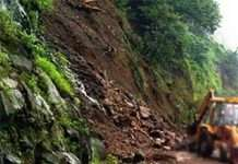 landslide in kashedi; mumbai goa highway closed