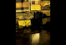 corona patient lying on the sidewalk in Dombivli
