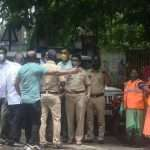 Activist police and cleaning staff at Rajgruha