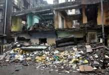 Building Collapse in Thane at Tel Galli