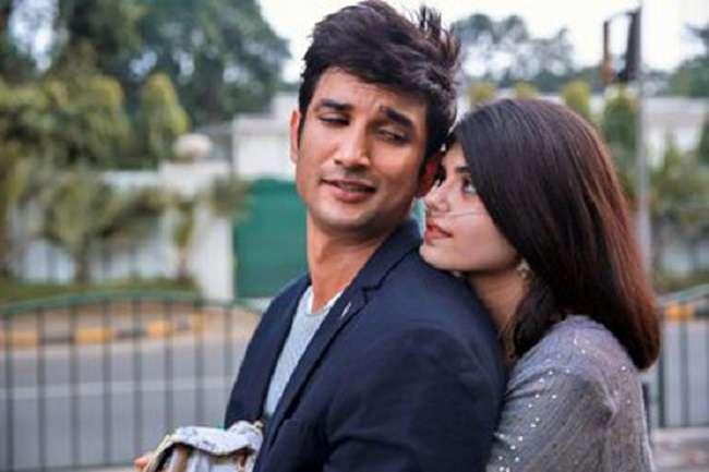sushant singh rajput sanjana sanghi dil bechara movie best scenes in pics