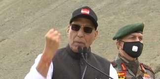 defense minister rajnath singh visits leh army