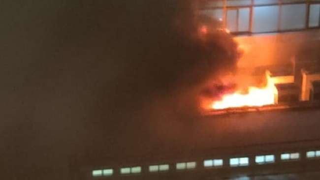 fire at H.N reliance foundation hospital in girgaon