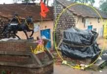 Belgaon Shivaji Maharaj Statue removed