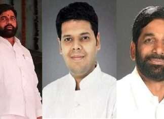 Eknath Shinde Niranjan Davkhare and Sanjay Kelkar