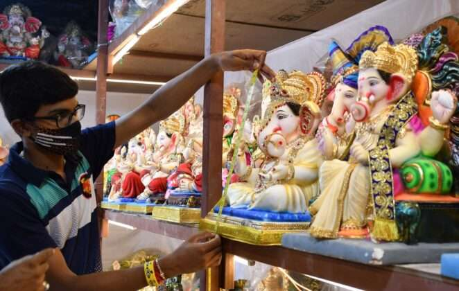 Soon ganpati bapa will come in our homes, Markets are filled with ganpati essential things