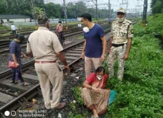 RPF jawan saved women life