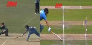 mahendra singh dhoni run out same style