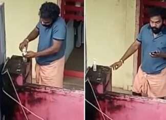 man returns stolen sanitizer after caught on cctv camera video goes viral