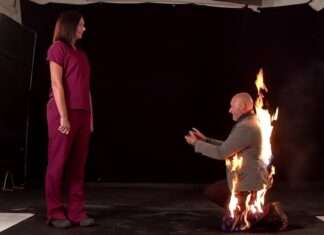propose with fire on body viral 1