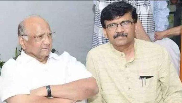 sanjay raut and sharad pawar