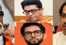 thackeray family in shivsena