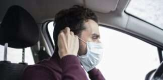car driving with mask