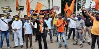 Maratha Kranti Morcha workers protest in Mumbai against SC stay on Maratha reservation