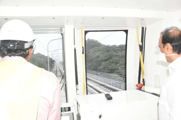 During the inspection, Ajit Pawar also took a metro journey from Sant Tukaramnagar to Pimpri.