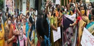 shiv sena women protest against kangana ranaut in mumbai and thane