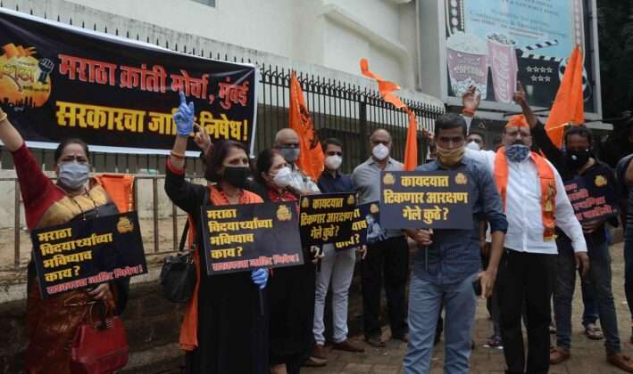The agitation of Maratha Kranti Morcha took place in various places in Mumbai today