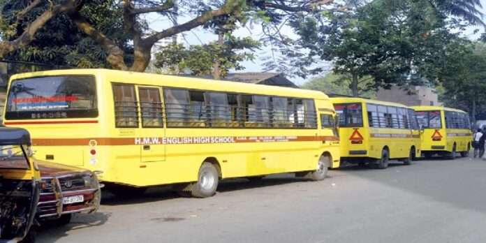 Use school bus to ease the crowd of dombivli to mumbai journey