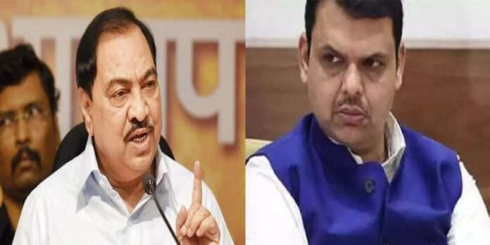bjp seniro leader eknath khadse criticized devendra fadnavis