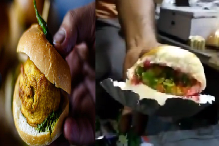 gujarati man makes ice cream pav instead of vada pav video is going viral
