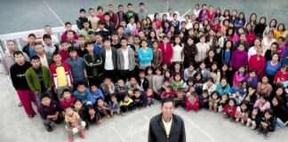 The world's largest family with 181 members in Mizoram