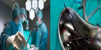 iron stuff left in stomach during surgery in unnao at uttar pradesh