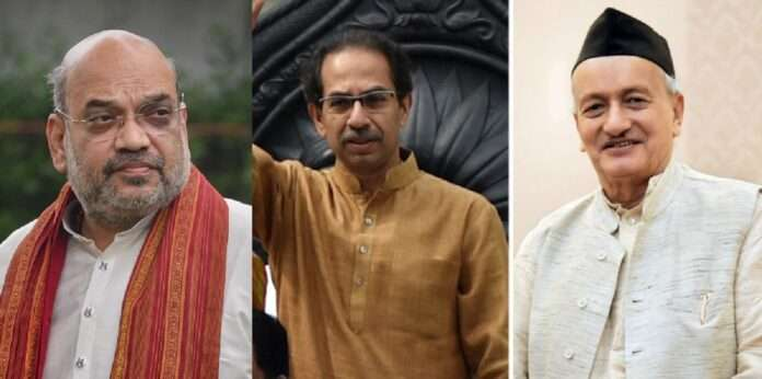 Amit Shah Uddhav Thackeray and Bhagat Singh Koshyari